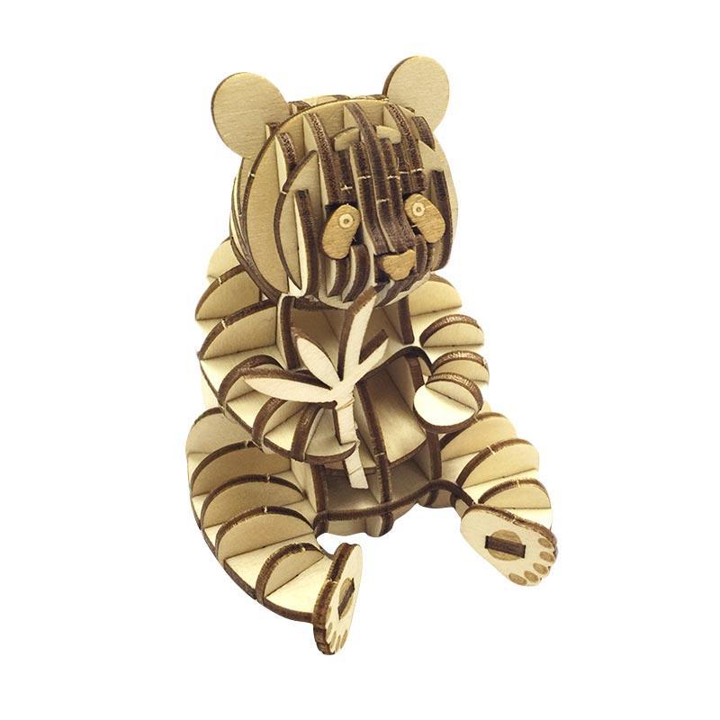Kigumi Panda Puzzle Kayu 3D