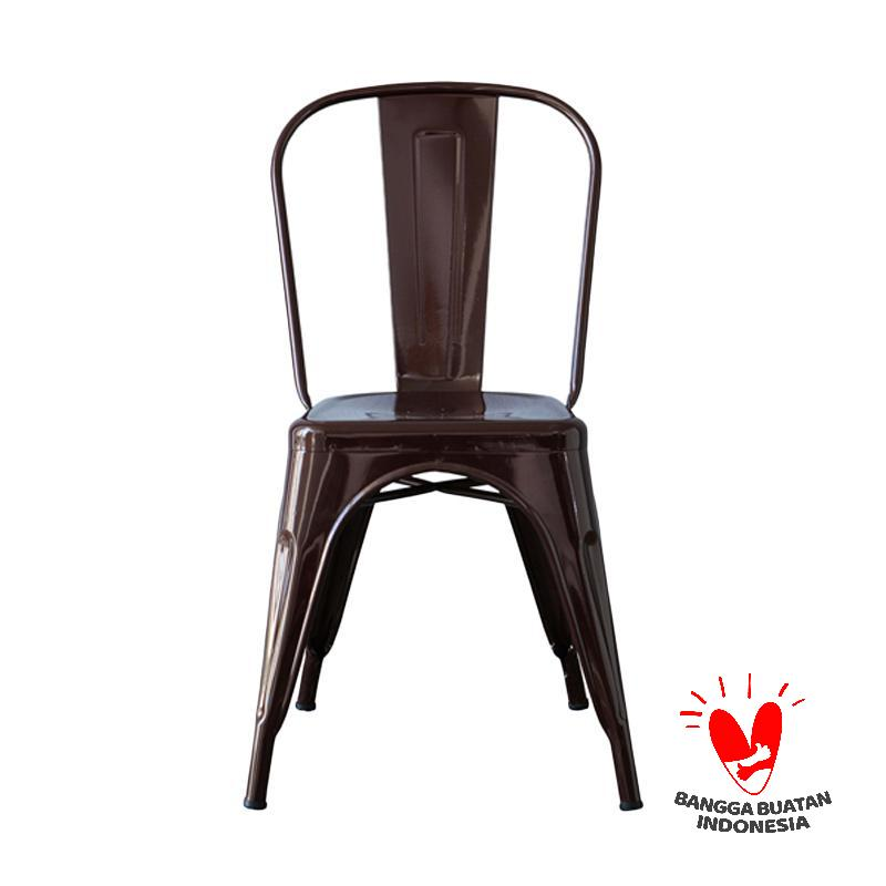 The Olive House Michelle Metal Chair Brown