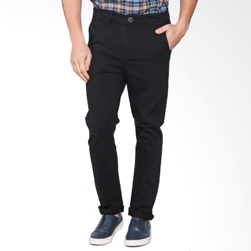 Moutley 3005 Pants Celana Panjang Pria - Black 330051713