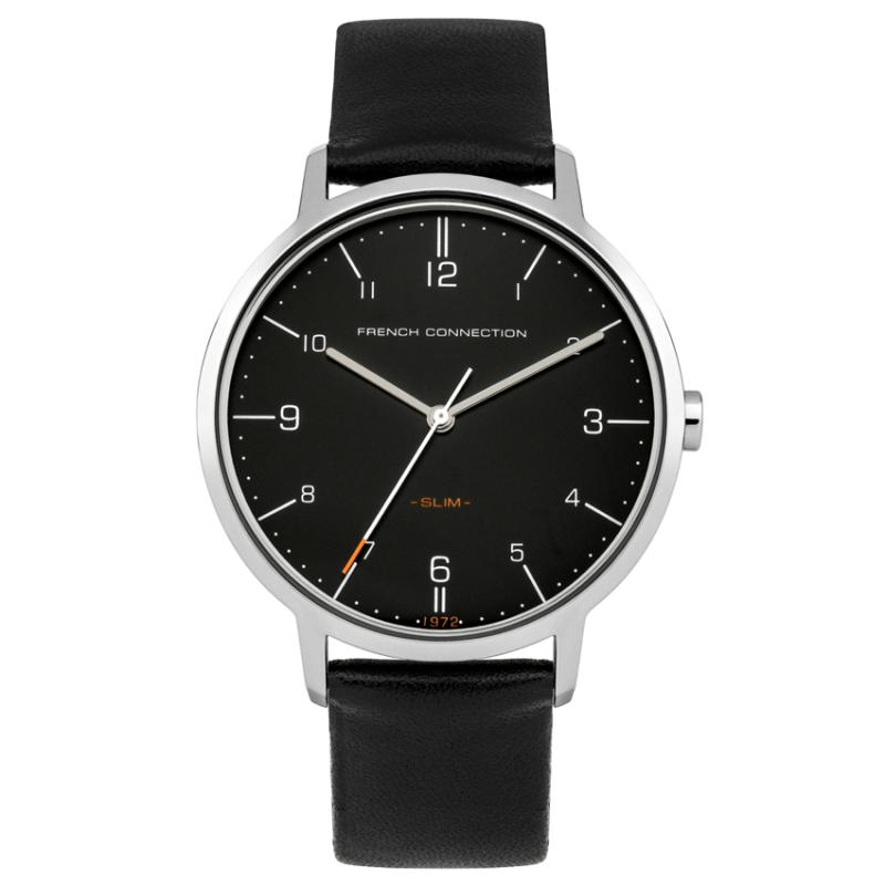 FCUK FC1258B Leather Strap Man Watches