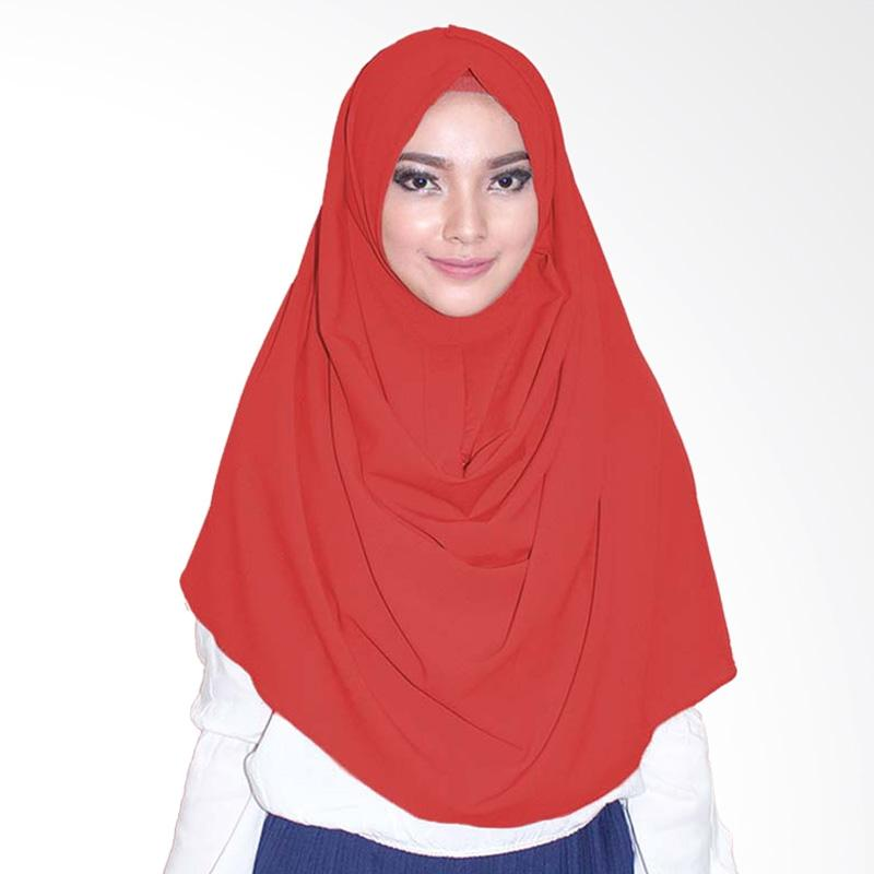 Milyarda Hijab  Emily Jilbab Instan - Merah