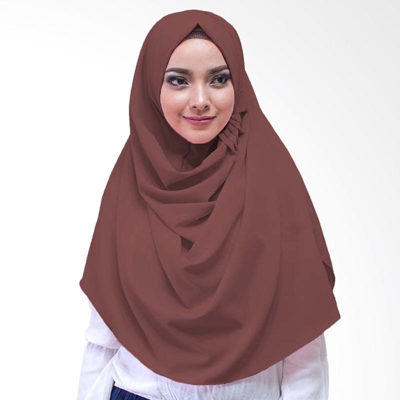 Milyarda Hijab LCB Laudya Jilbab Instan - Coklat