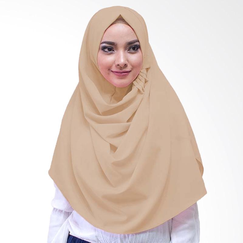 Milyarda Hijab LCB Laudya Jilbab Instan - Coklat Susu