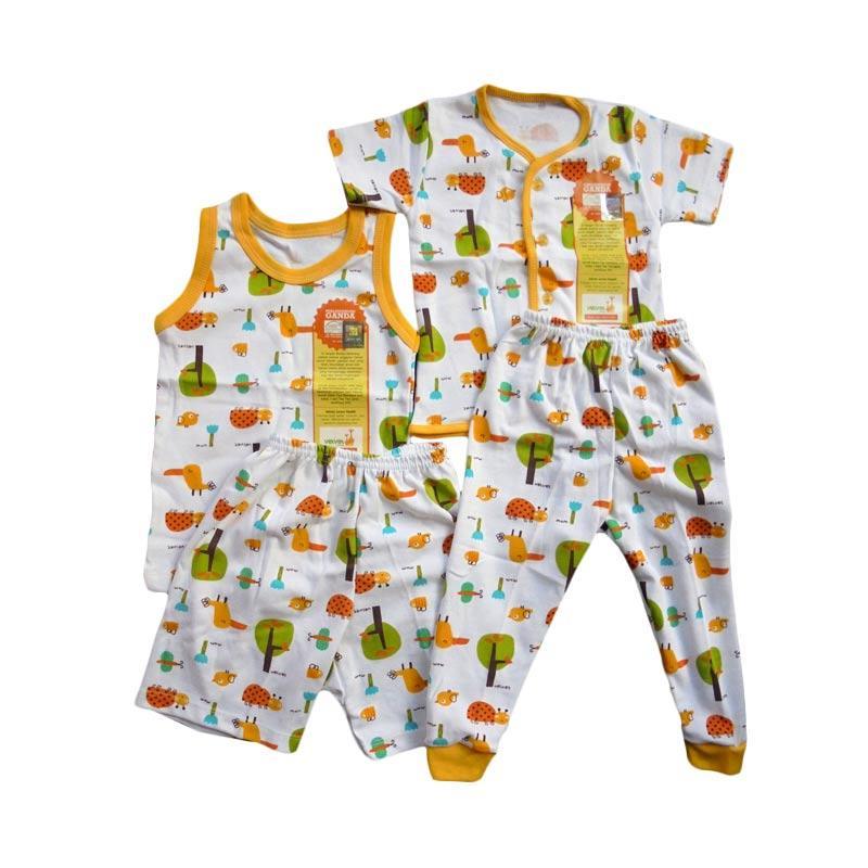 Velvet Junior Motif Tucano Piyama Sleeveless dan Pendek Setelan Baju Tidur Anak - Yellow