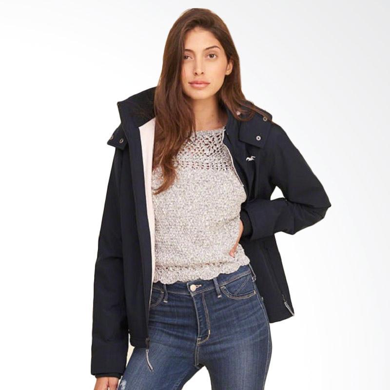 Hollister Fleece Jacket Wanita - Navy