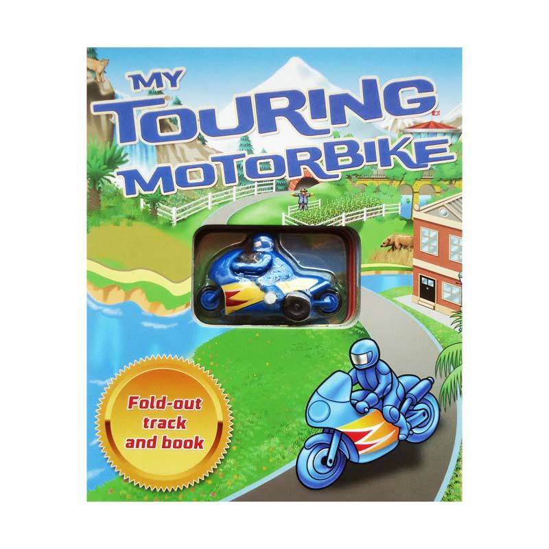Genius My Touring Motorbike Includes Fold-out track and Book Buku Edukasi Anak