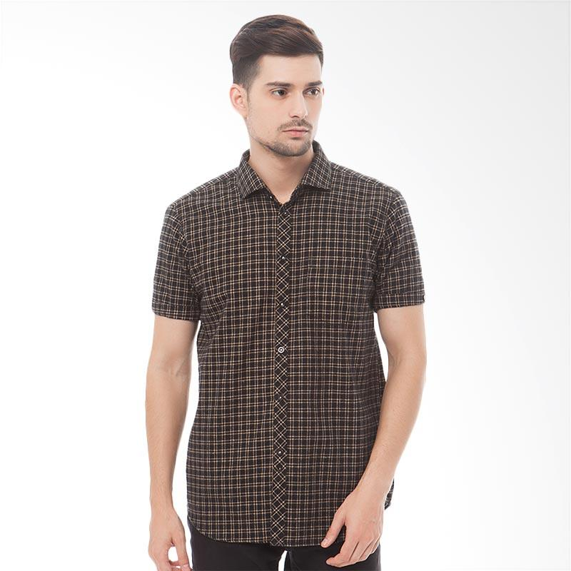 Tendencies Tartan Shirt Atasan Pria - Brown