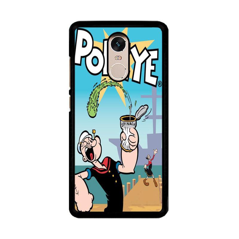 Flazzstore Popeye Z0546 Custom Casing for Xiaomi Redmi Note 4 or Note 4X Snapdragon Mediatek