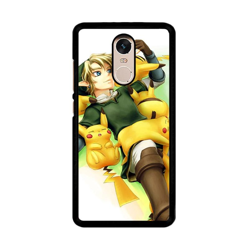Flazzstore Zelda With Pikachu Pokemon Z1061 Custom Casing for Xiaomi Redmi Note 4 or Note 4X Snapdragon Mediatek