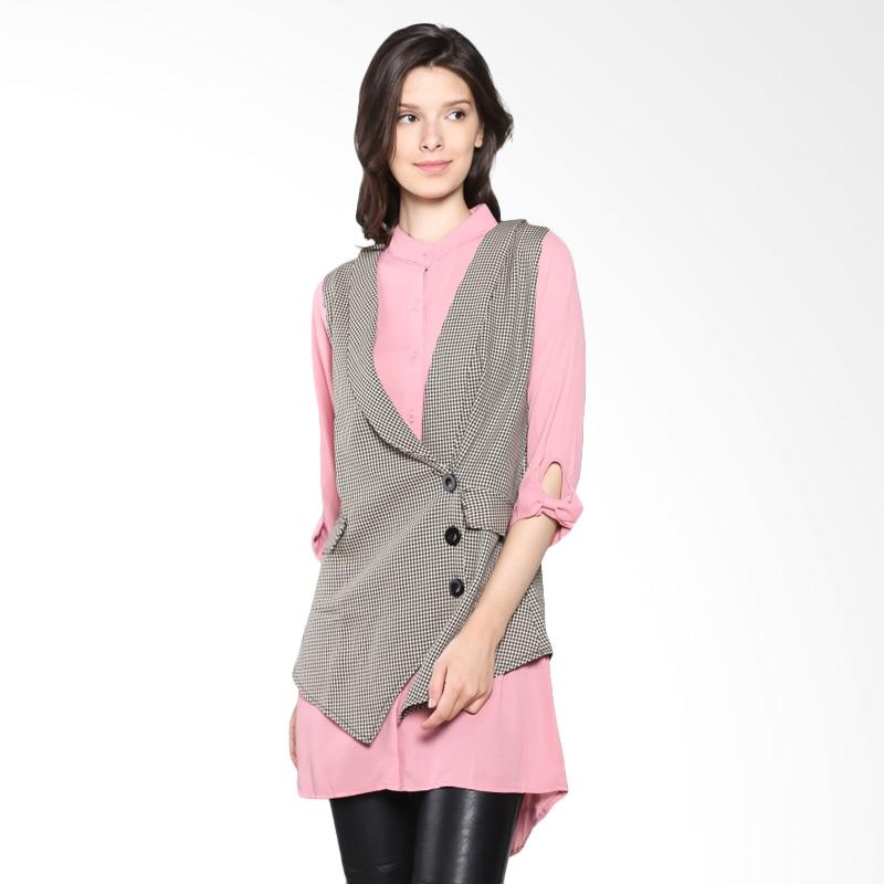 Carte Blouse With Vest - Pink