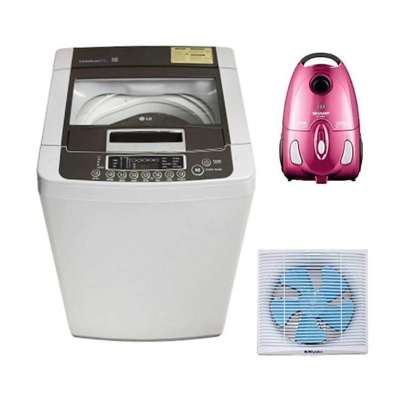 harga KPR UOB - Laundry Paket Alat Elektronik [LG TS81VM Mesin Cuci + Miyako KET 1201 Exhaust Fan + SHARP EC 8305P Vacuum Cleaner] Blibli.com