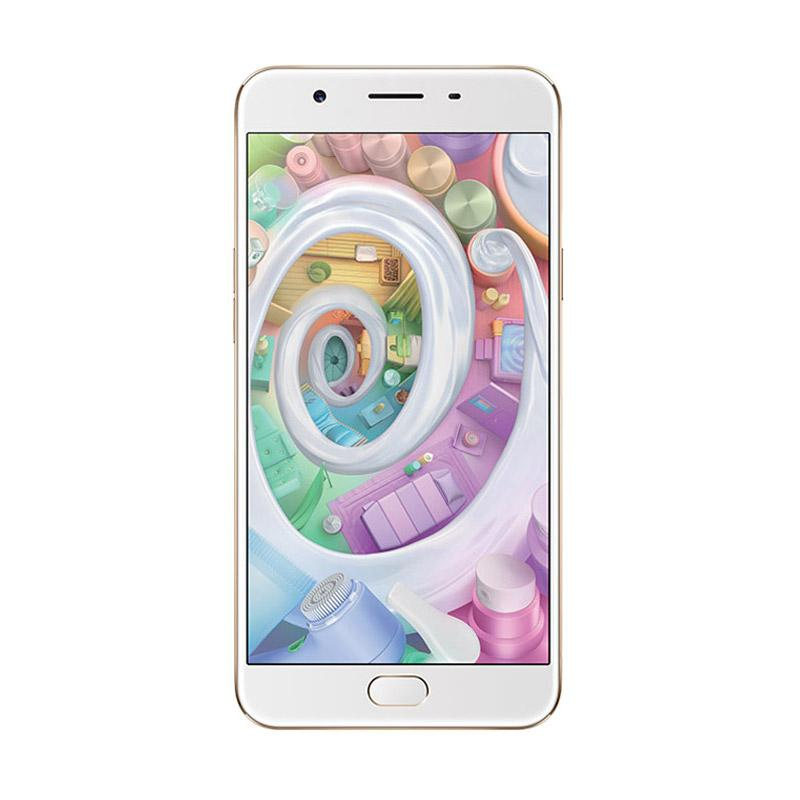 harga Oppo F1S Smartphone - Gold [32GB/ 3GB] Free Speaker Bluetooth Mini Blibli.com