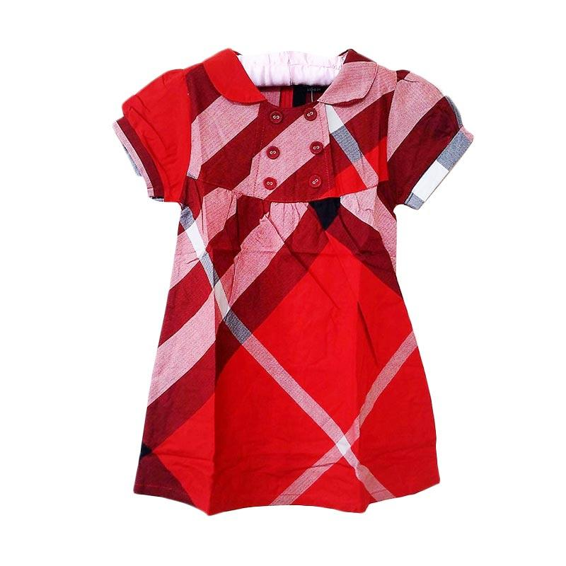 harga GBS Burberry Button Dress - Red Blibli.com