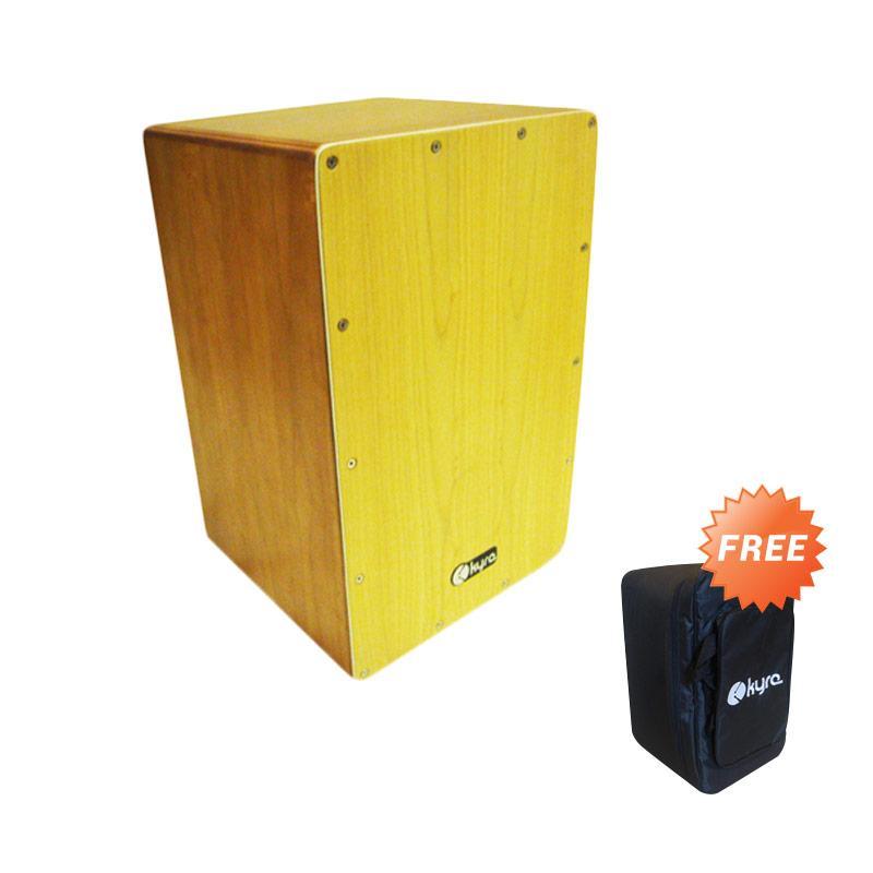 harga KYRE Cajon Drum Akustik - Cokelat + Free Case Blibli.com