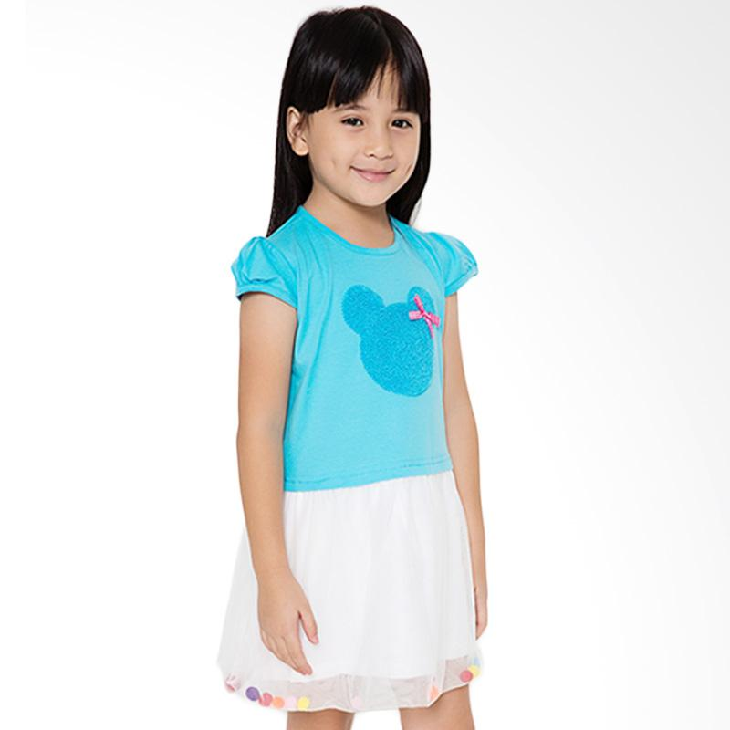 4 You Tile Midi Dress Anak - Biru