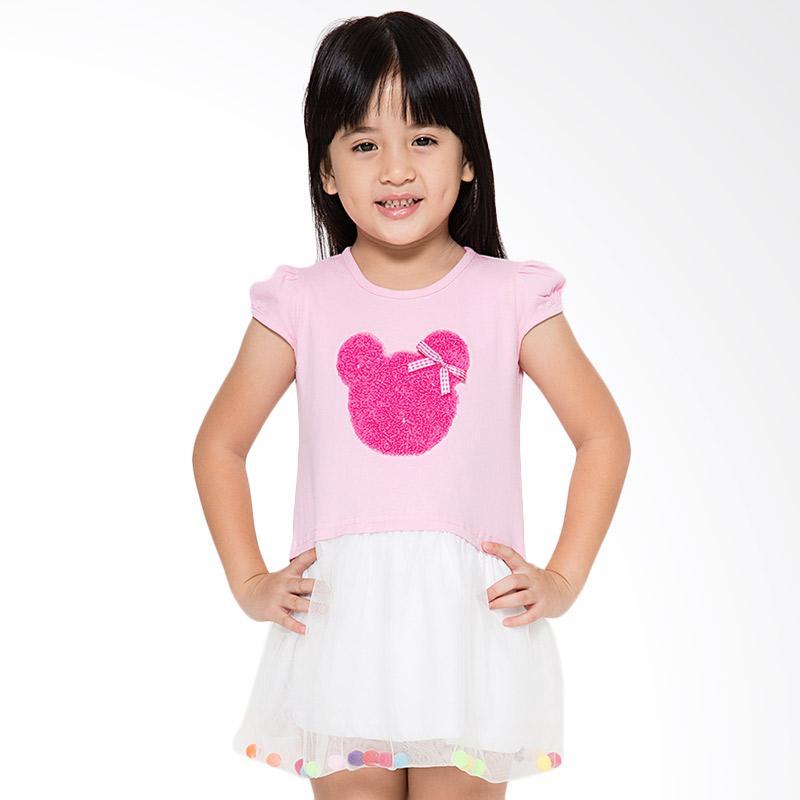 4 You Tile Midi Dress Anak - Pink