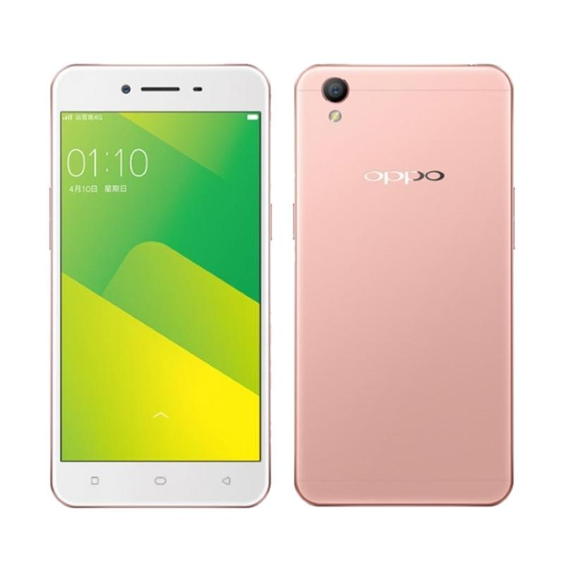OPPO A37 Smartphone - Rose Gold Free Headphone + I-Ring