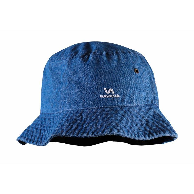 Savana Men's Cotton Jeans Hat - Blue