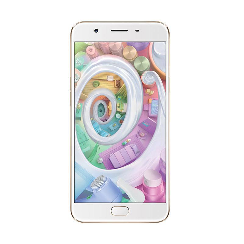 harga Oppo F1s Smartphone - [64GB/ 4GB] - Gold Blibli.com
