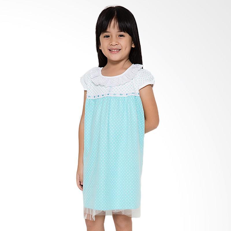 4 You Onde Tile Dress Anak  - Biru