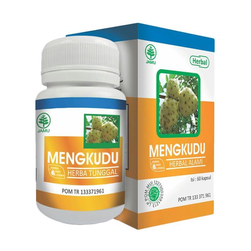 Herbal Indo Utama Mengkudu HIU Suplemen Kesehatan [60 Kapsul]