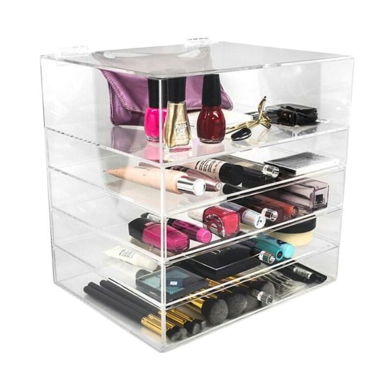 Acrylic MakeUp Tipe D1 Organizer - Transparent
