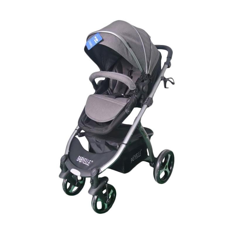 harga Baby Elle 907 Onyx Baby Stroller - Grey Blibli.com