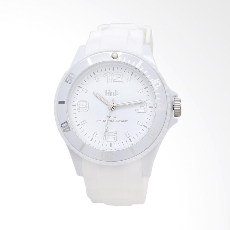 Linkgraphix Link Solid LSL04 Jam Tangan Unisex Pria / Wanita - White