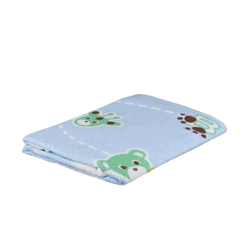 Cotton Tree Printed Towel Animal Handuk - Blue