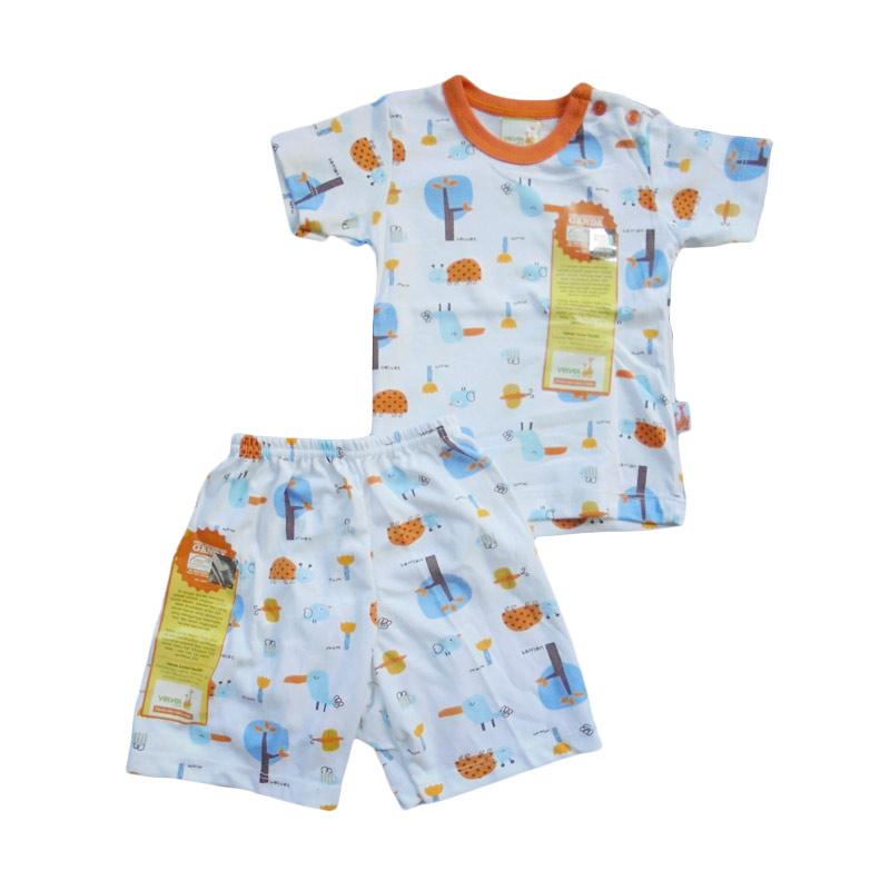 Velvet Junior Motif Tucano Setelan Pakaian Anak - Orange