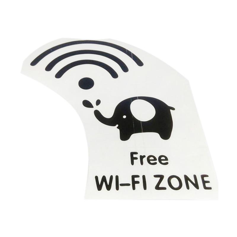 OEM Free Wifi Zone Stiker Dekorasi Untuk Kaca Cafe/Warnet/Restaurant/Warung