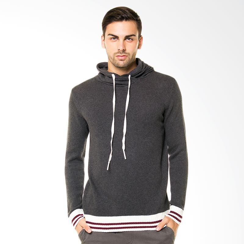 Tendencies Knitted Hoodie Sweater - Grey