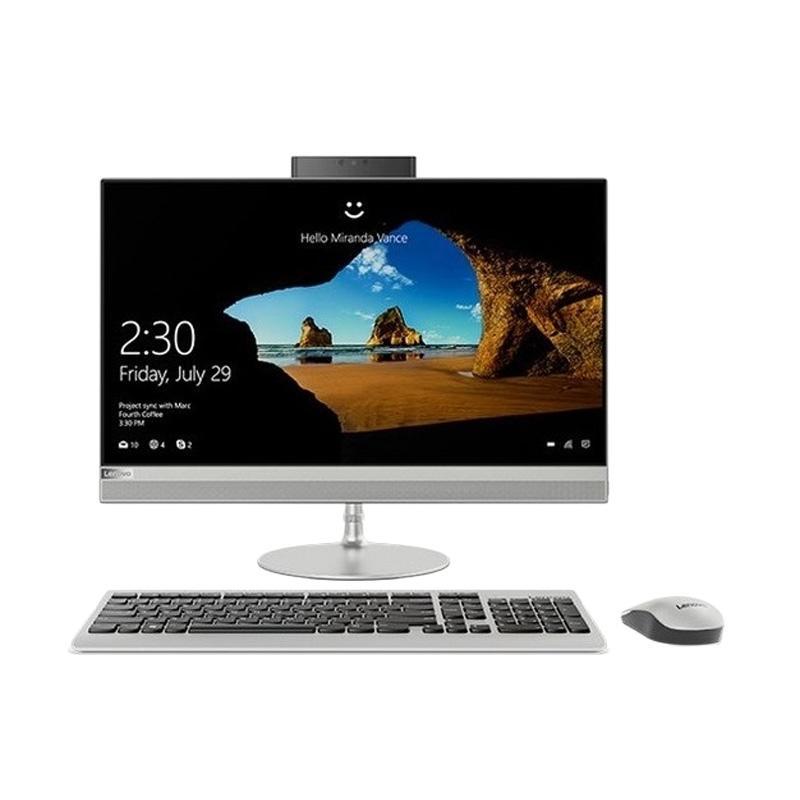Lenovo IdeaCentre AIO 520-24IKU-03ID Desktop PC - Silver [i5-7200U/ 4GB/ 1TB/ R530 2GB/ DOS/ 23.8 Inch]