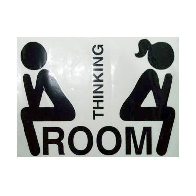 Epinidithouse Thinking Room Toilet Sign Kamar Mandi Stiker