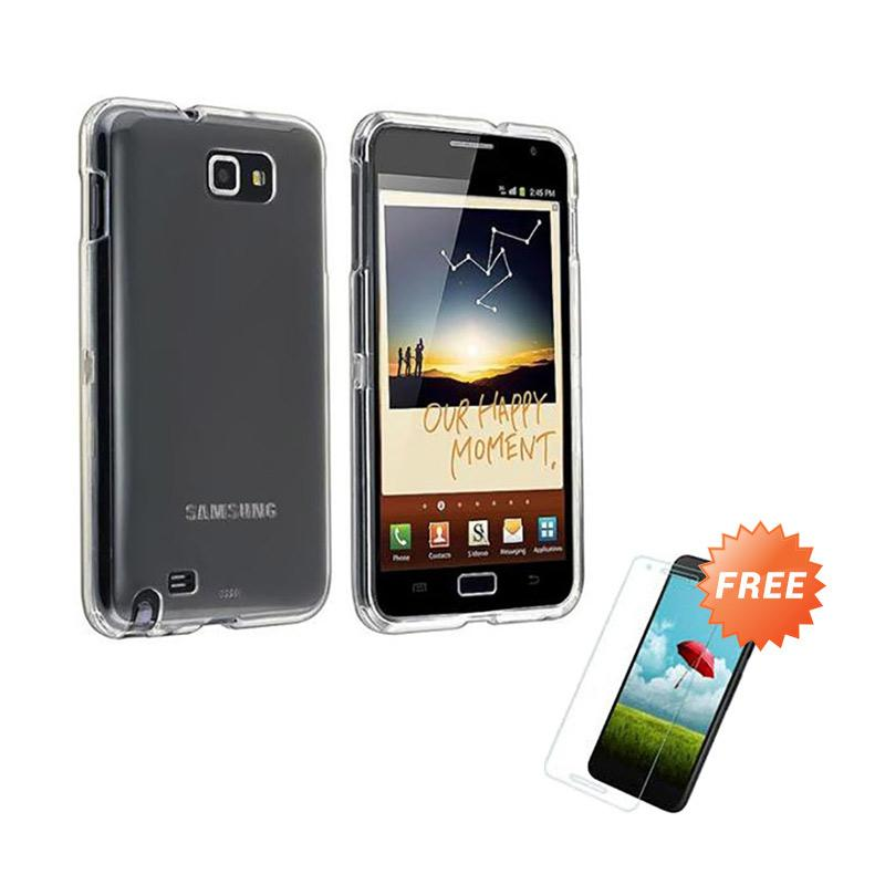buy online 4a2ac 0c58a OEM Crystal Hardcase Casing for Samsung Galaxy Note 1 N7000 - Clear + Free  Tempered Glass