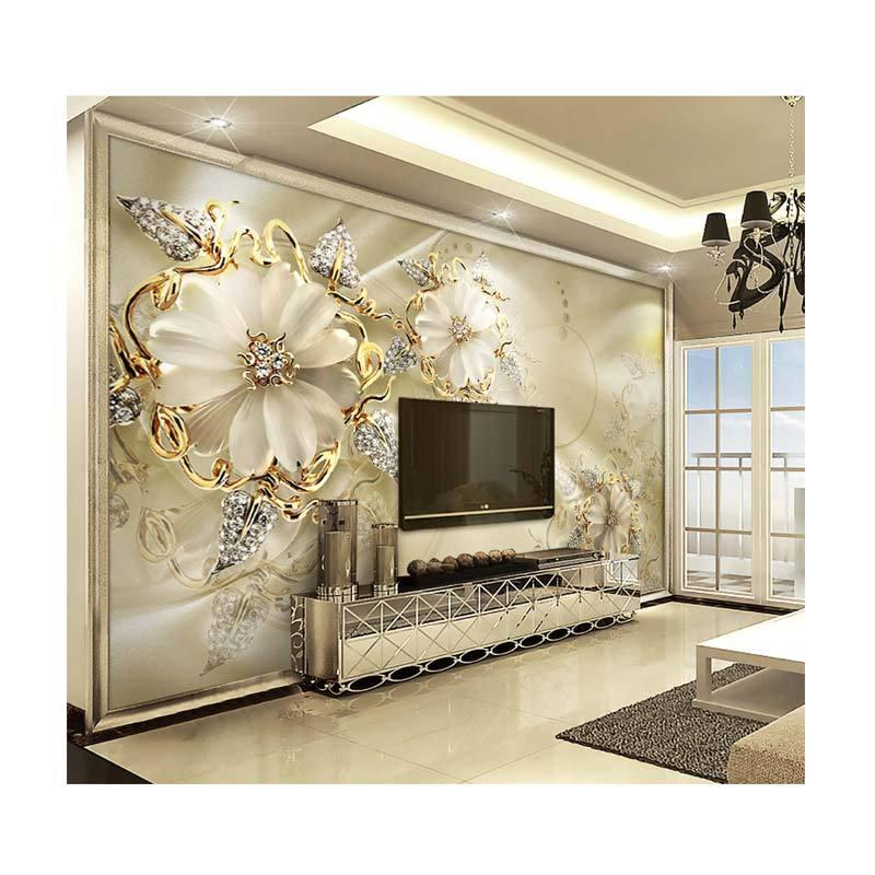 Jual Wingman 15505181 3D Wallpaper Golden Flower Jewelry Dekorasi
