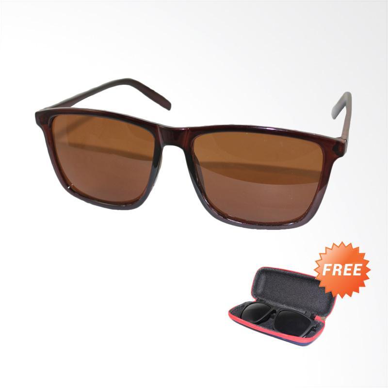 Jual OEM ID Sunglass SUN Wayfarer D-Frame Kacamata Unisex - Coklat   1004-02  Online - Harga   Kualitas Terjamin  24678bad6d