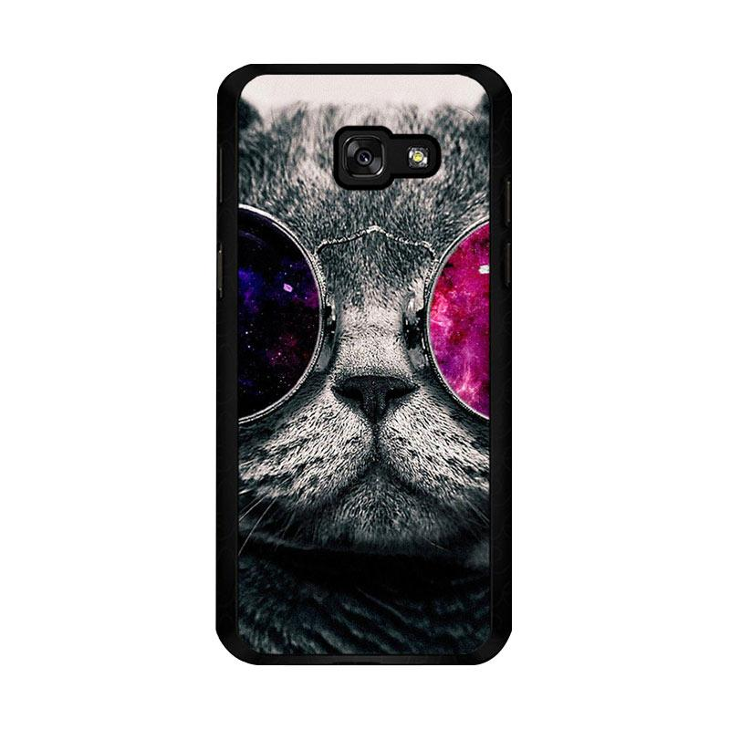 Flazzstore Cat Glasses O0167 Custom Casing for Samsung Galaxy A5 2017