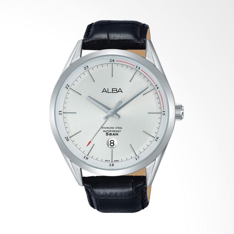 Alba Jam Tangan Pria - Silver White [AS9D41X1]