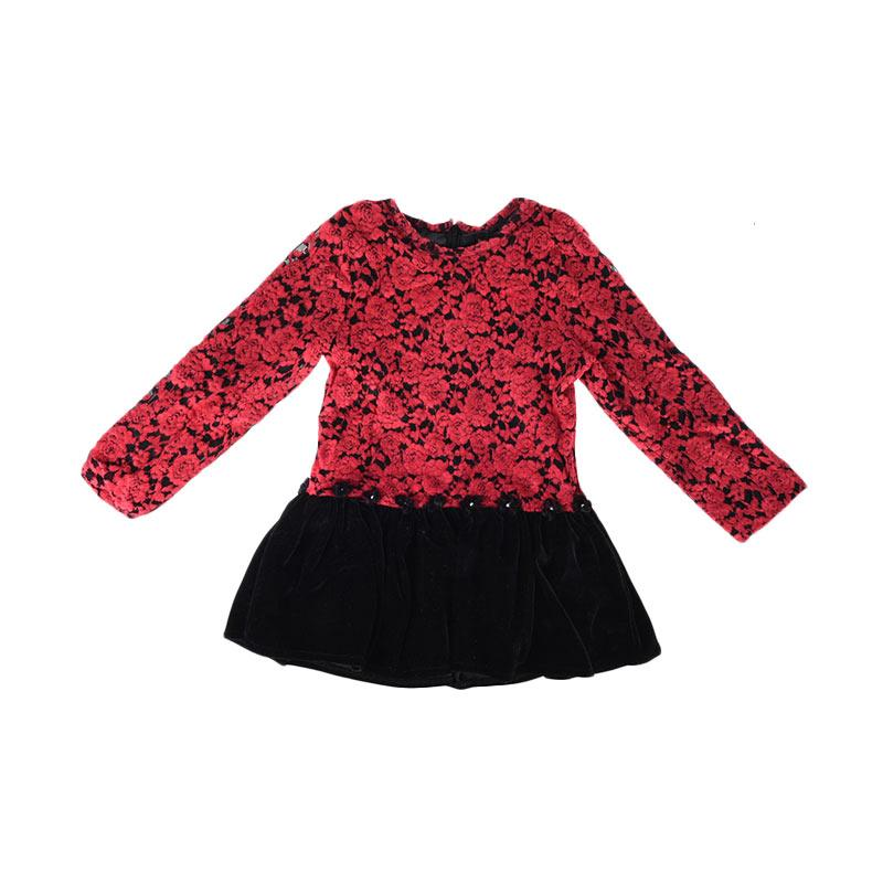 Cabriole 082 Adel & Audrey Dress - Flower Red