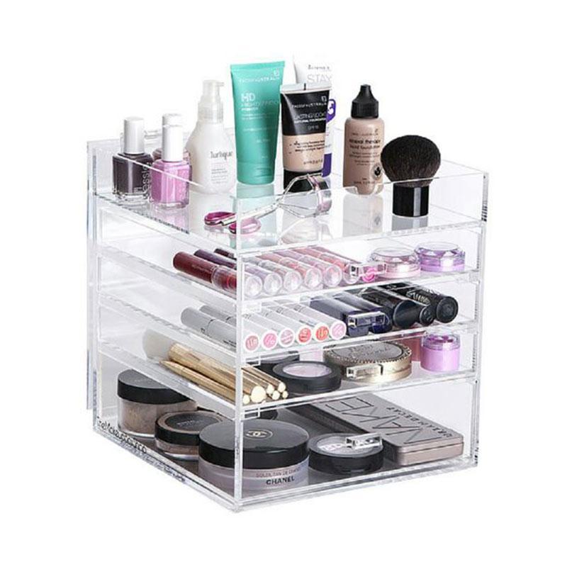 Acrylic MakeUp Tipe D3 Organizer - Transparent