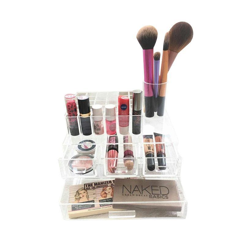 Acrylic MakeUp Tipe E2 Organizer - Transparent
