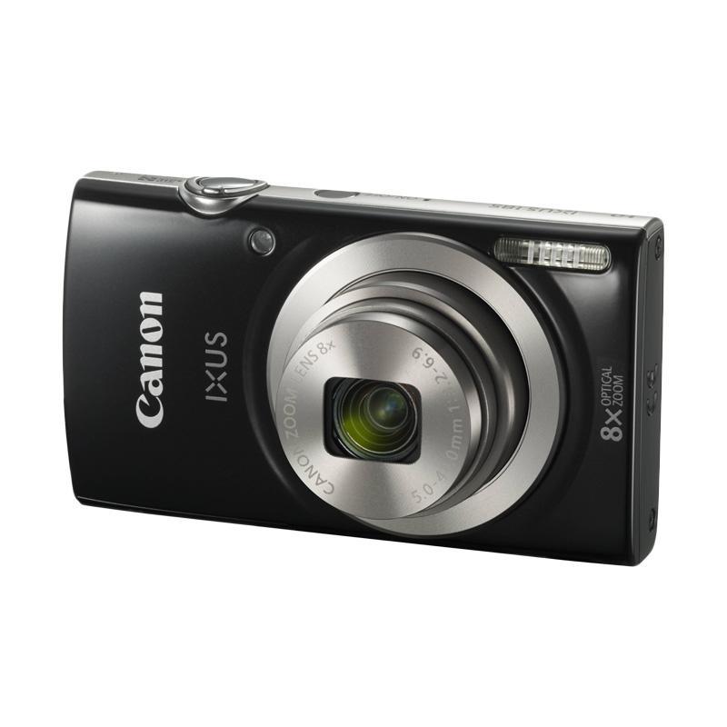 Canon IXUS 185 BLACK - Pocket Camera 20 MP 28mm Wide 8x Optical Zoom (Resmi Datascrip)
