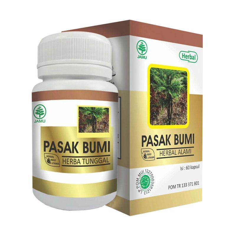 Herbal Indo Utama Pasak Bumi HIU Suplemen [60 Kapsul]