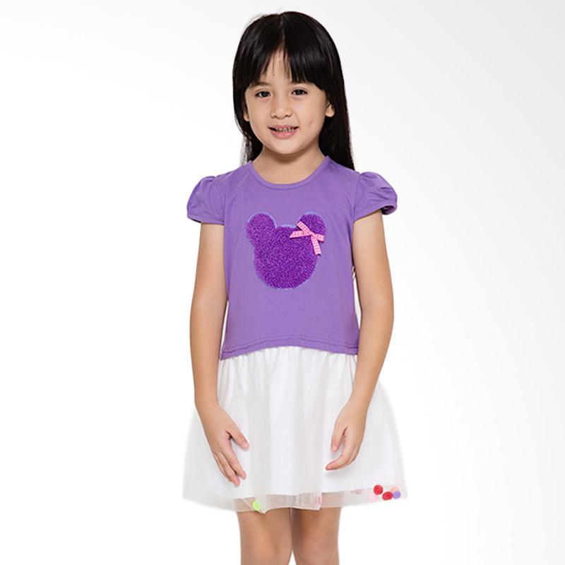 4 You Tile Midi Dress Anak - Ungu
