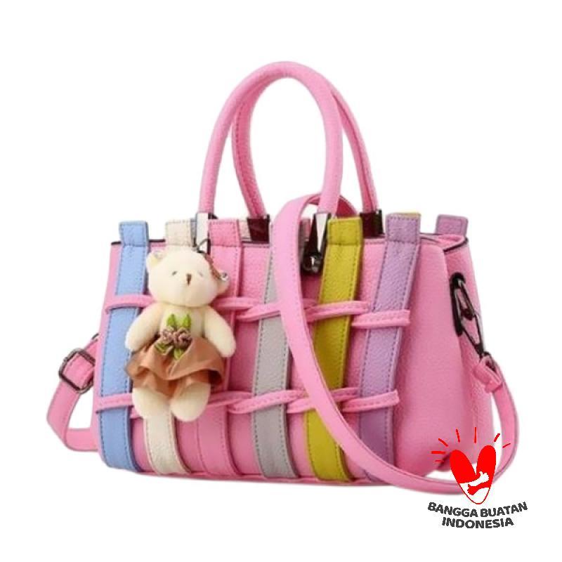 annies iveth tas wanita pink