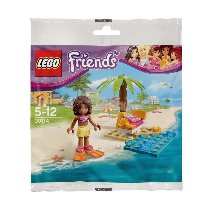 LEGO 30114 Friends Andrea's Beach Lounge Mainan Blok & Puzzle