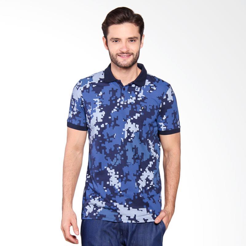 Famo Camo Basic Polo Shirt - Blue [517051712]