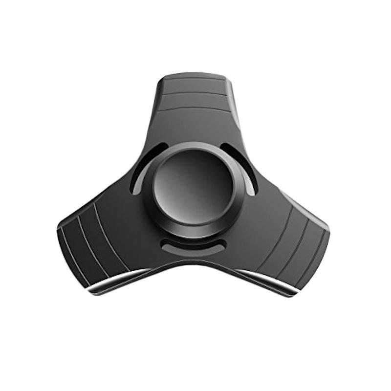 3T Metal Hand EDC Ceramic Ball Focus Games Fidget Spinner Mainan Edukasi - Black