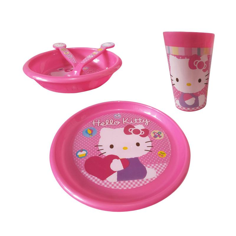 Hello Kitty HK Set Perlengkapan Makan Anak